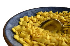 Soup Almonds / Shkedei Marak / soup mandel - An Israeli / Jewish soup accompaniment / snack